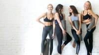 Group-Of-Young-Yoga-Girls-Hanging-Out wearing leggings