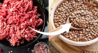 Raw-Ground-Beef-Bowl-Full-Of-Lentils-Wooden-Bowl