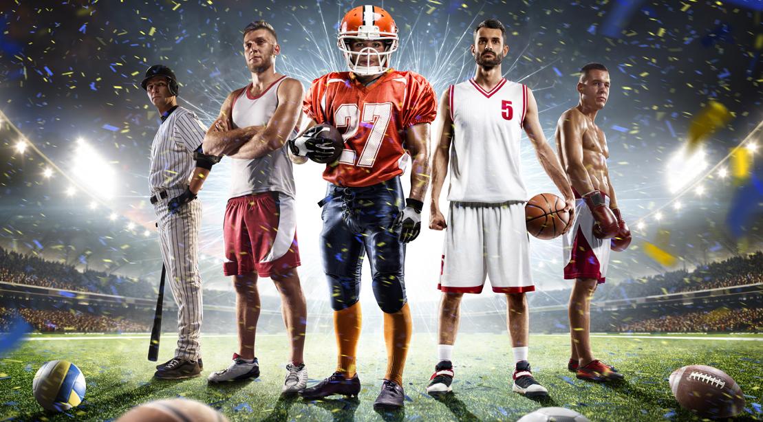 Variety-Of-Athletes-Wearing-Sports-Team-Uniform-Jersey