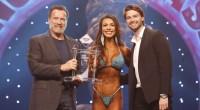 Bikini International winner Elisa Pecini with Arnold & Patrick Schwarzenegger