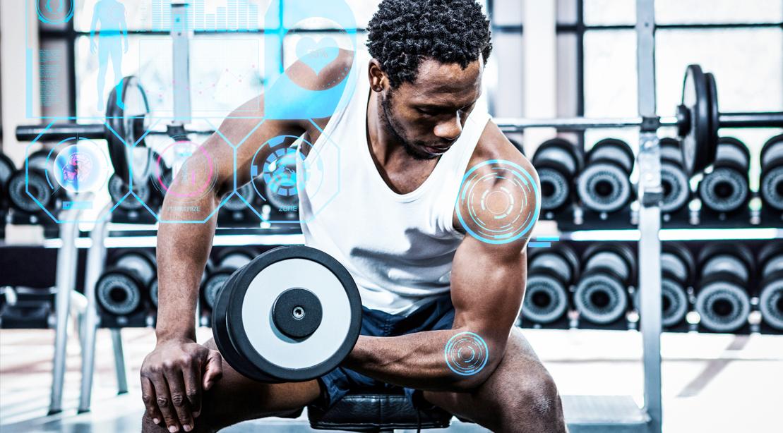Black-Man-Bicep-Curl-Exercise-Technology-Analysis