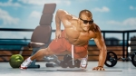 Bodybuilder-Wearing-Sunglasses-Doing-One-Handed-Pushup-Outdoors
