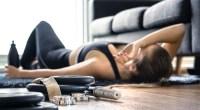 Female-Overtraining-In-Home-Gym-Livingroom