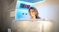 Happy-Female-Smiling-In-Cryotherapy-Chamber