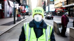 NYPD-Polic-Officer-Wearing-Face-Mask-In-Times-Square
