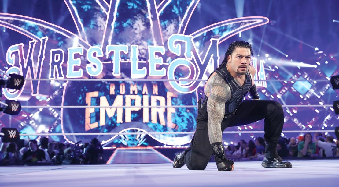 WWE-Superstar-Wrestler-Roman-Reign-In-WWE-Ring