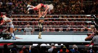 WWE-Pro-wrestler-Bianca-Belair-performing-wrestling-move-on-another-wrestler-at-Royal-Rumble