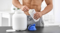 Man Making Protein Shake