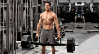 Celebrity Trainer Don Saladino Working out his upper body with a trap bar deadlift