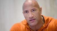Dwayne The Rock Johnson looking very serious in an interview