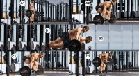 Onnit Trainer Eric Leija demonstrates how to do a workout flow with bilateral barbell flow workout