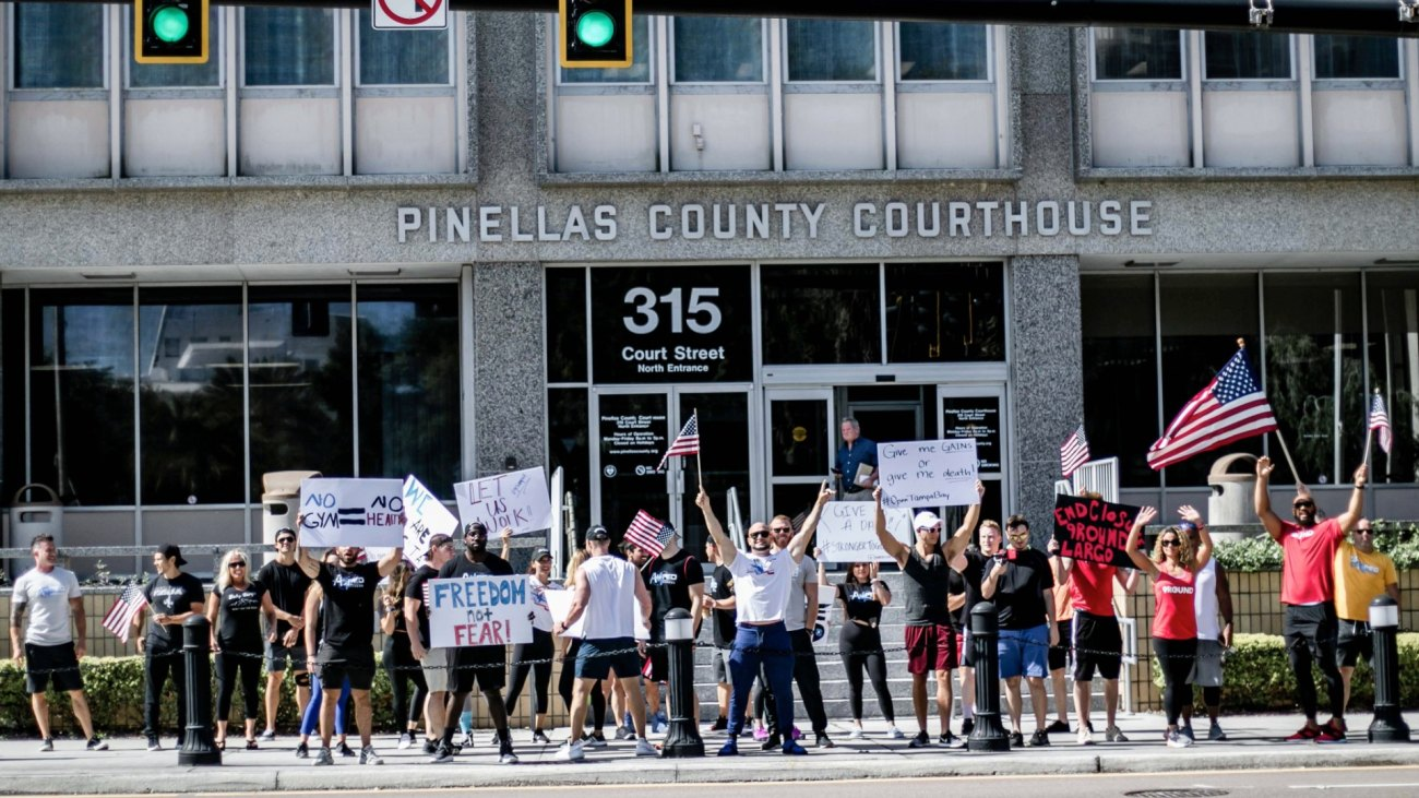 Protesters in Florida Want to Open Gyms