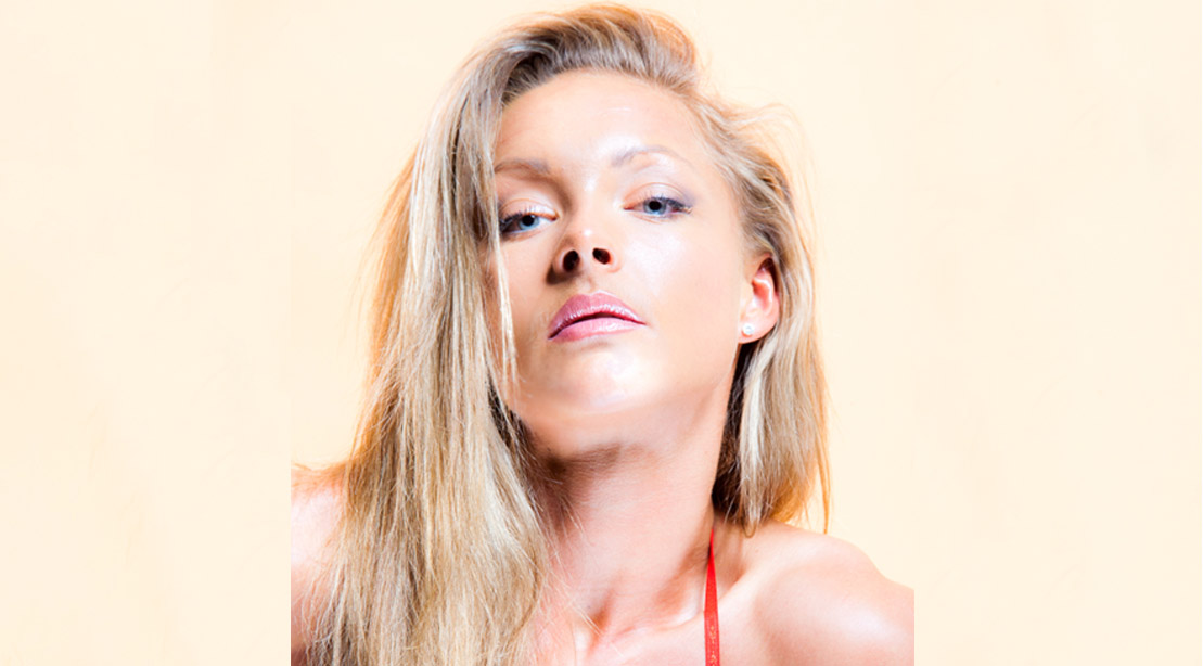 Fitness beauty model Anna Larsson