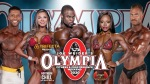 Professional bodybuilders lined up for the Mr. Olympia Weekend 2020 Event at Planet Hollywood Las Vegas