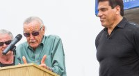 Marvel's Stan Lee giving a speech about Lou Ferrigno and Marvel Comic book hero The Hulk
