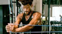 NBA basketball player Jimmy Butler working out during the pandemic with resistance bands