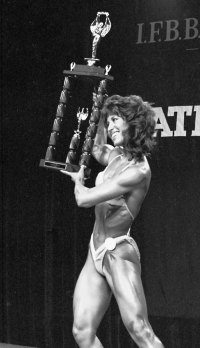 Rachel McLish, the first Ms. Olympia.