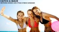 Hard rock supplement females in a bikini on the beach