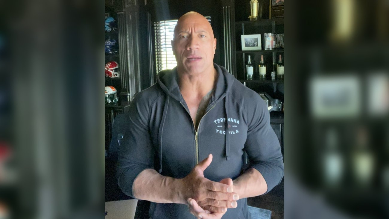 The Rock Tests Positive for Covid-19