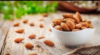 A bowl of almonds a good source of the micronutrient magnesium
