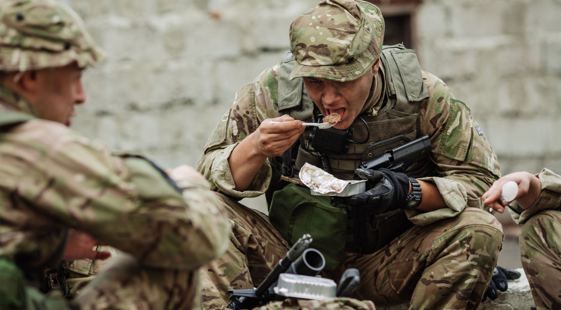 Navy seal training during hell week and eating a hot MRE meal