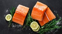 Slices of raw salmon a good source of the micronutrient vitamin D