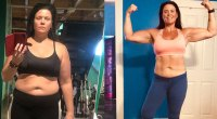 Sarah fitness transformation from the Trifecta challenge