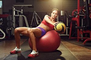Medicine Ball Twist on Stability Ball