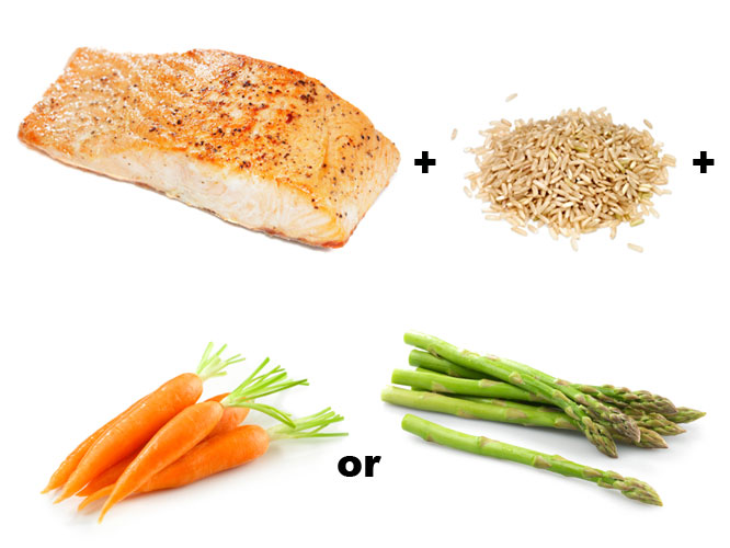 Salmon Brown Rice Vegetables
