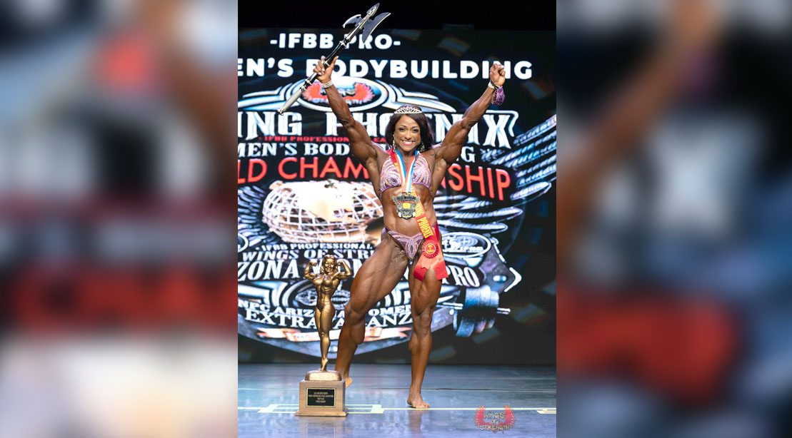 Female bodybuilder Andrea Shaw wins the Ms. Olympia 2020 female bodybuilding competition