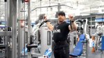 David Baye showing how to properly perform a wide grip late pulldown exercise for your upper body and back workout routine