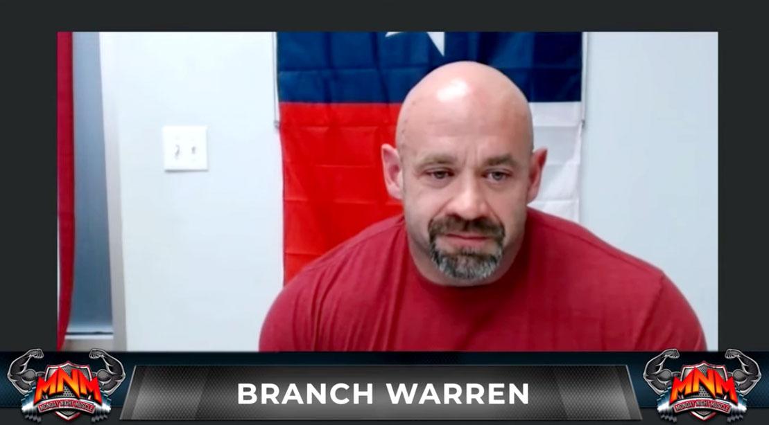 Former bodybuilder Branch Warren on Monday Night Muscle
