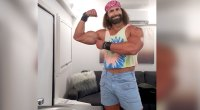 Actor Kevin Makely As Macho Man Randy Savage on NBC sitcom The Young Rock