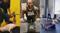 Larry Wheels James Harrison and Myles Garrett instagram gym hits and fails