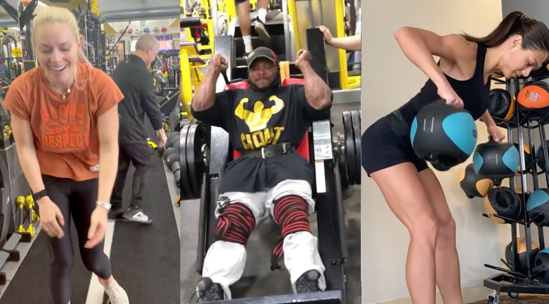 Lindsey Vonn, Shaun Clarida, and Janet Layug fitness professional instagram pages