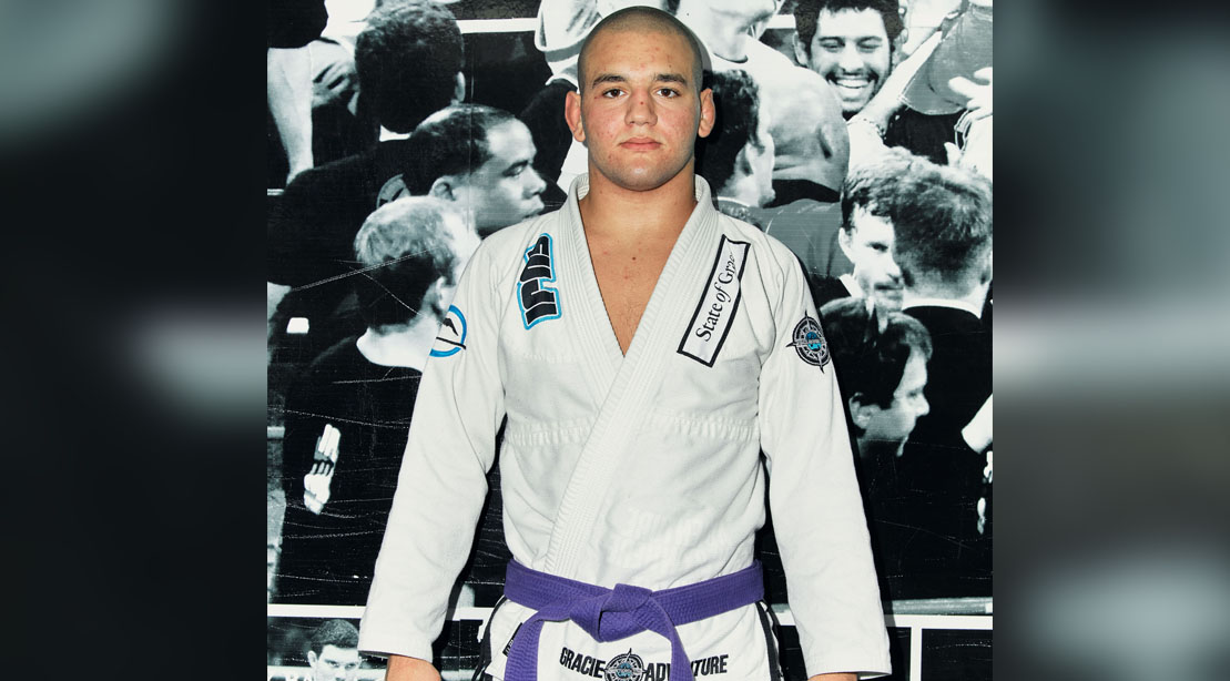 Teen Rayron Gracie as a purple belt brazilian Jiu Jitsu fighter