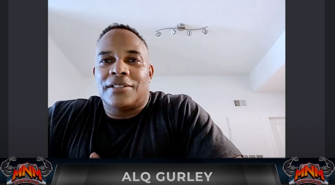 Bodybuilder Alq Gurley interview on Monday Night Muscle