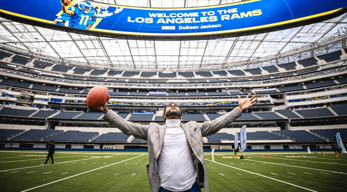 DeSean Jackson On The LA Rams Football Stadium