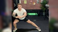 Erik Bartell High Intensity Upper Body and Core Workout Side Lunge Exercise