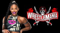 Female wrestler Bianca Belair promoting wrestlemania