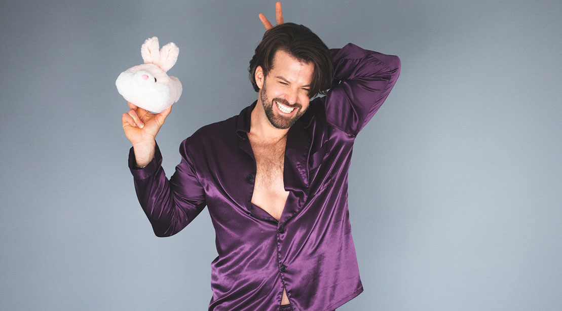Johnny Bananas Devenanzio holding a bunny rabbit