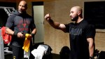 The Rock training with Dave Rienzi