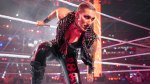 WWE female wrestler Rhea Ripley in her costume