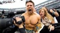 WWE wrestler The Miz screaming