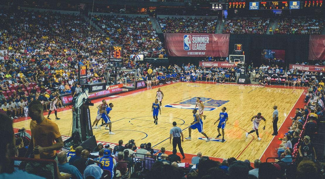 NBA Playoffs Game at the staple stadium