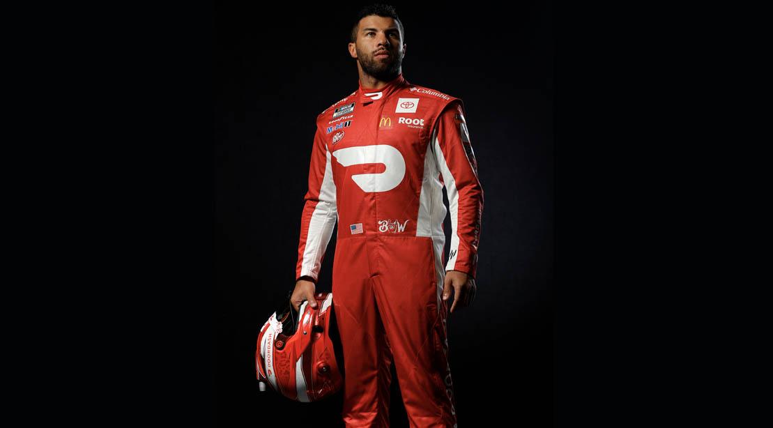 Nascar Driver Bubba Wallace In His Racing Uniform