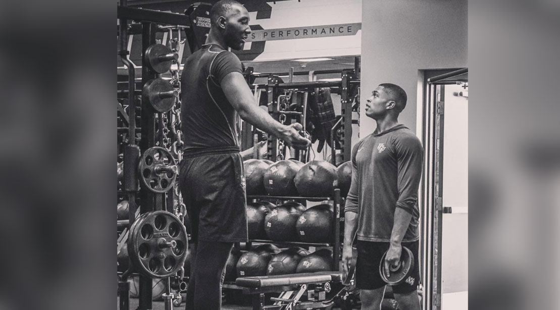 Tacko Fall Working Out In The Gym