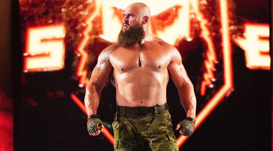 WWE Professional wrestler Braun Strowman Entering the squared circle