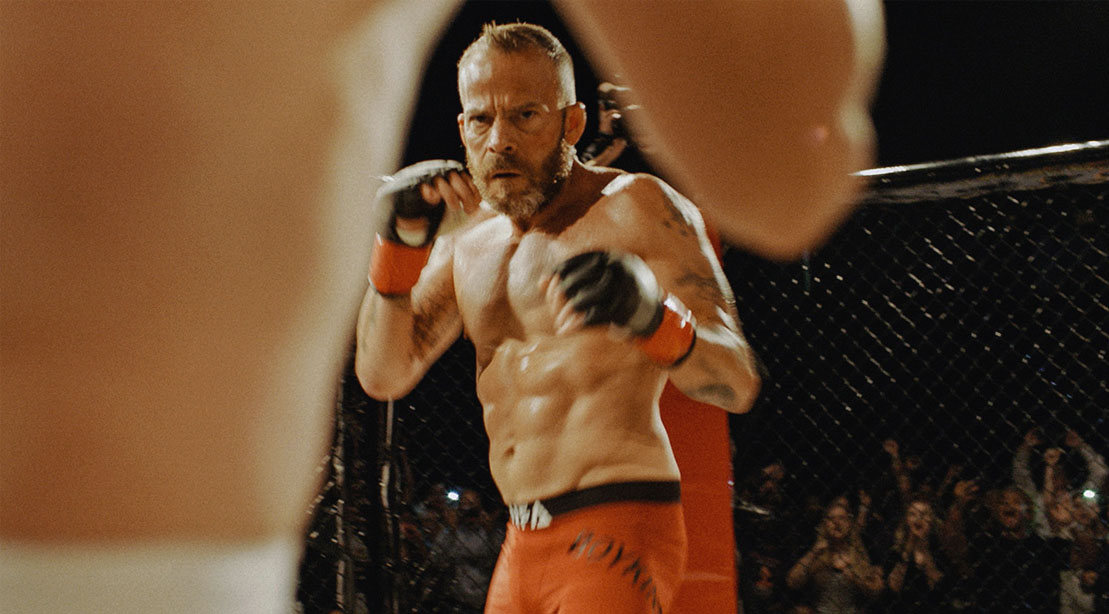 Actor Stephen Dorff playing his role as MMA Fighter Cash Boykins in Embattled