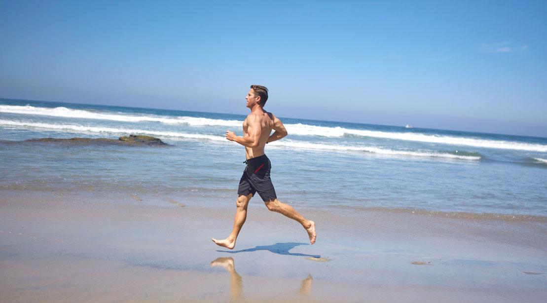 Ask andy mcdermott running on the beach